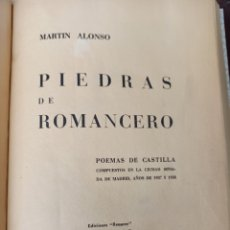 Libros de segunda mano: PIEDRAS DE ROMANCERO POR MARTÍN ALONSO. Lote 253228890