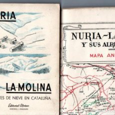 Libros de segunda mano: NURIA LA MOLINA DEPORTES DE NIEVE EN CATALUÑA (ALPINA, 1951) PRIMERA EDICIÓN - CON MAPA ANECDÓTICO. Lote 253298155