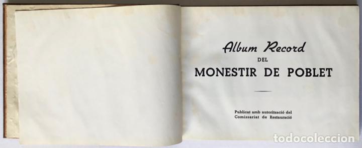 Libros de segunda mano: ALBUM RECORD DEL MONESTIR DE POBLET. - [Àlbum.] - Foto 2 - 123262683