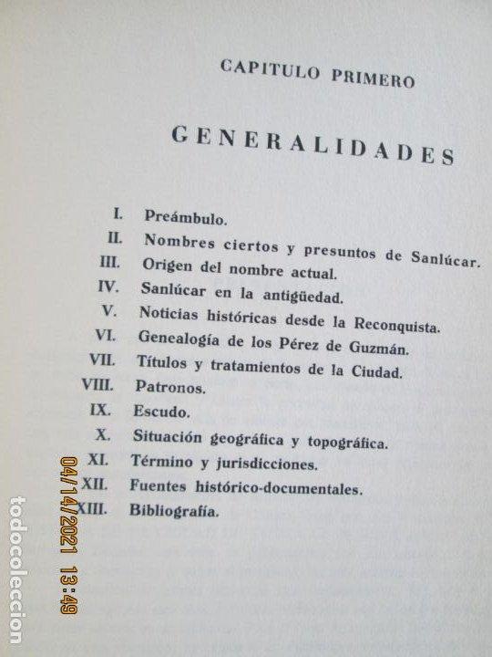 Libros de segunda mano: HISTORIA DE LA CIUDAD DE SANLUCAR DE BARRAMEDA - PEDRO BARBADILLO - EJEMPLAR 1021 DE 1500- EDC ANEL - Foto 14 - 254620050