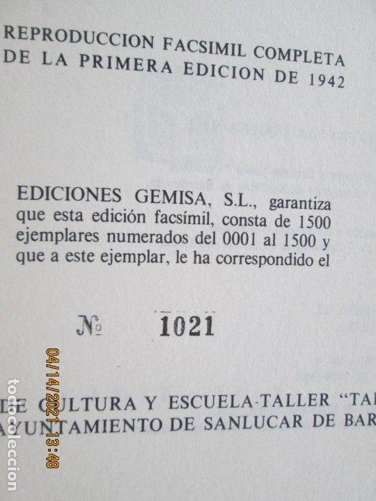 Libros de segunda mano: HISTORIA DE LA CIUDAD DE SANLUCAR DE BARRAMEDA - PEDRO BARBADILLO - EJEMPLAR 1021 DE 1500- EDC ANEL - Foto 6 - 254620050