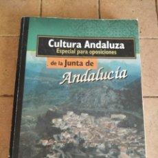 Libros de segunda mano: CULTURA ANDALUZA - ESPECIAL PARA OPOSICIONES - AÑO 1999 - 477 PAGINAS. Lote 254722455