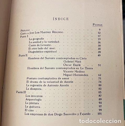 Libros de segunda mano: Teoría del Sureste. (Martínez Pastor. Baladre, 1956) Levante, Cartagena, etc. Dibujos. Mapa - Foto 4 - 255543615