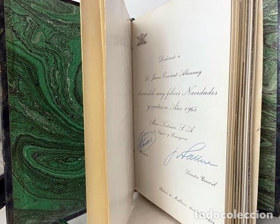 Libros de segunda mano: El Escorial (Edición de lujo. Piel. Tirada numerada de 350 ejemplares. Cortes dorados (Mare Nostrum - Foto 4 - 257459490