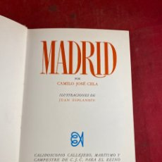 Libros de segunda mano: MADRID POR CAMILO JOSÉ CELA. Lote 262710360