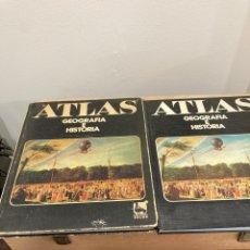 Libros de segunda mano: LOTE DE 2 ATLAS GEOGRAFÍA E HISTORIA. Lote 263028095