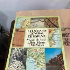 Libros de segunda mano: GEOGRAFÍA GENERAL DE ESPAÑA 2 TOMOS. Lote 264306520