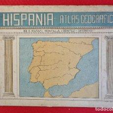 Libros de segunda mano: LIBRO ATLAS GEOGRAFICO HISPANIA PRIMERA EDICION GRANADA 1941 VER FOTOS ORIGINAL. Lote 264832714
