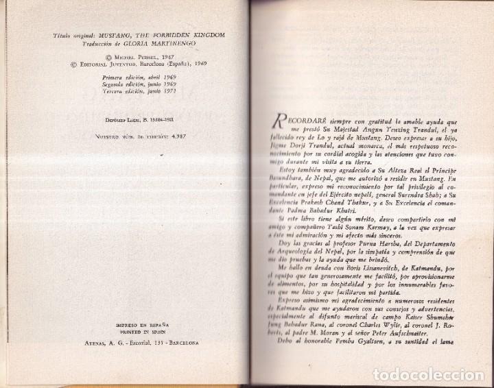 Libros de segunda mano: MUSTANG, EL REINO PERDIDO EN EL HIMALAYA - MICHEL PEISSEL - EDITORIAL JUVENTUD 1971 - Foto 2 - 267611469