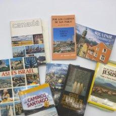 Libros de segunda mano: LOTE DE LIBROS - ISRAEL - LOS CAMINOS DE SANTIAGO - CANADÁ - TURQUÍA - GRECIA - CHIPRE - VIAJES. Lote 268982209