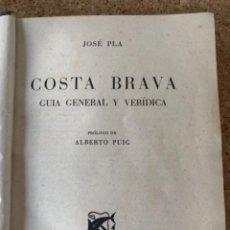Libros de segunda mano: COSTA BRAVA, DE JOSÉ PLÀ, PRIMERA EDICIÓN (BOLS,7). Lote 269188074