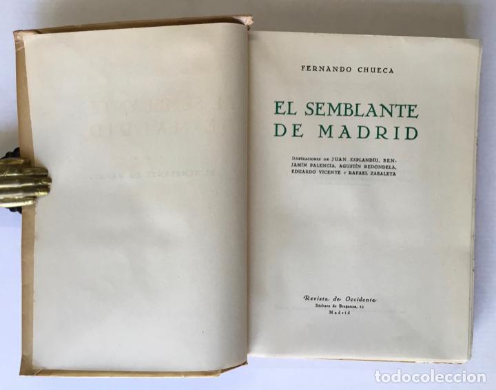 Libros de segunda mano: EL SEMBLANTE DE MADRID. - CHUECA, Fernando. - Foto 2 - 123175542