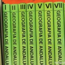 Libros de segunda mano: GEOGRAFÍA DE ANDALUCÍA - EDICIONES TARTESSOS - COMPLETA 8 VOLÚMENES. Lote 270563118