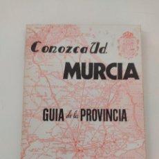 Libros de segunda mano: CONOZCA USTED MURCIA. GUÍA DE LA PROVINCIA - JOSÉ SÁNCHEZ MARTÍNEZ. Lote 271624303
