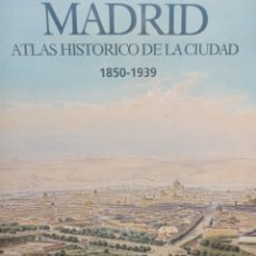 Libros de segunda mano: MADRID, ATLAS HISTORICO DE LA CIUDAD. 1850-1930. LUNWERG EDITORES. 2001. PLANOS Y FOTOGRAFIAS.. Lote 274242783