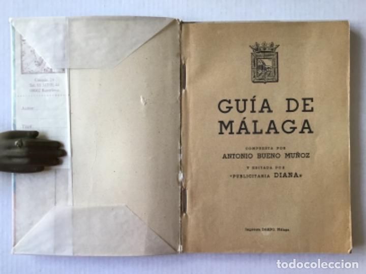 Libros de segunda mano: GUÍA DE MÁLAGA. - BUENO MUÑOZ, Antonio. - Foto 2 - 123168428
