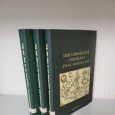 Libri di seconda mano: DESCUBRIMIENTOS ESPAÑOLES EN EL MAR DEL SUR, EDITORIAL NAVAL. 3 TOMOS. Lote 276813728