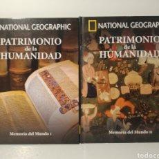 Libros de segunda mano: MEMORIA DEL MUNDO I Y II. PATRIMONIO DE LA HUMANIDAD. NATIONAL GEOGRAPHIC. Lote 277741078