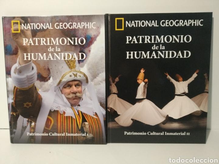 PATRIMONIO CULTURAL INMATERIAL. I Y II. NATIONAL GEOGRAPHIC. PATRIMONIO DE LA HUMANIDAD (Libros de Segunda Mano - Geografía y Viajes)