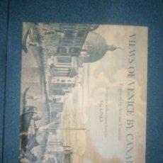 Libros de segunda mano: LIBRO VIEWS OF VENICE BY CANALETTO. Lote 277848278