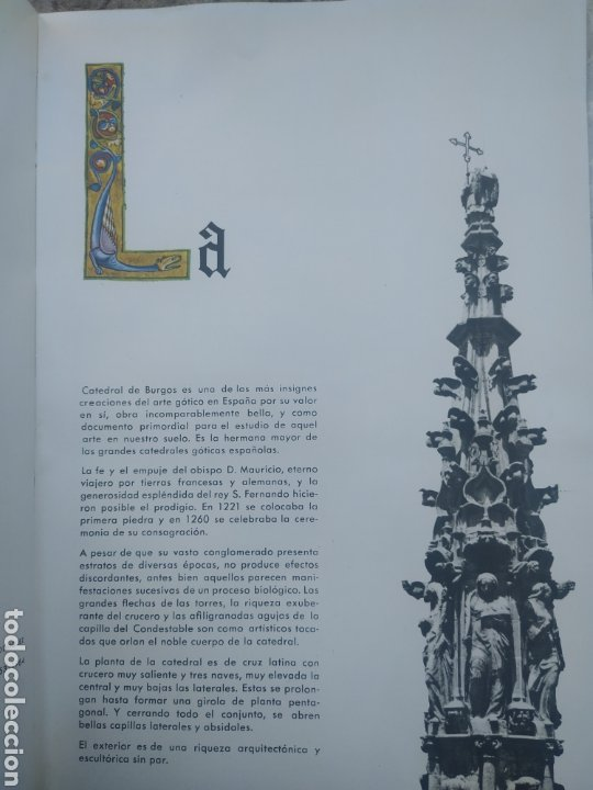 Libros de segunda mano: La catedral de Burgos 1964 - Foto 3 - 278690998