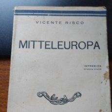 """Libros de segunda mano: MITTELEUROPA. IMPRESIOS D'UNHA VIAXE"""" POR VICENTE RISCO. """"NOS"""" SANTIAGO 1934. PRIMERA ED. RARO. Lote 279412733"""