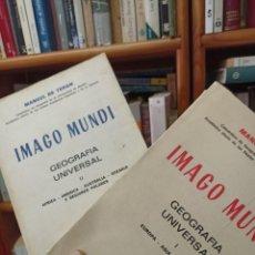 Libros de segunda mano: MANUEL DE TERÁN.IMAGO MUNDO. I Y II. Lote 284725248