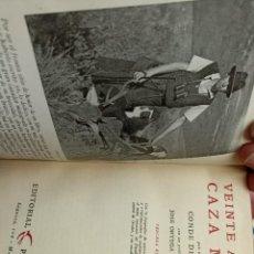 Livres d'occasion: CONDE DE YEBES. VEINTE AÑOS DE CAZA MAYOR.. Lote 284726868