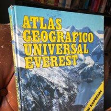 Libros de segunda mano: ATLAS GEOGRAFICO UNIVERSAL EVEREST, GRAN FORMATO, 1983. Lote 285351253