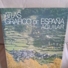 Libros de segunda mano: ATLAS GRAFICO DE ESPAÑA. AGUILAR. 507 PAGINAS. NUEVO SIN USO.. Lote 285388023