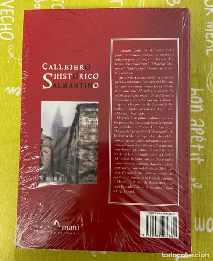 Libros de segunda mano: Callejero histórico salmantino de Ignacio Carnero. Ediciones Amaru. Precintado - Foto 2 - 285743598