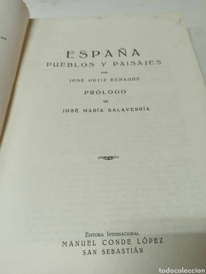 Libros de segunda mano: España pueblos y paisajes ortiz-echagüe editora Manuel Conde - Foto 2 - 286639298