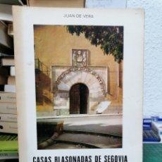 Libros de segunda mano: CASAS BLASONADAS DE SEGOVIA. JUAN DE VERA. Lote 287220358