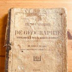 Libros de segunda mano: ATLAS DE GEOGRAFÍA 1862. Lote 287254998