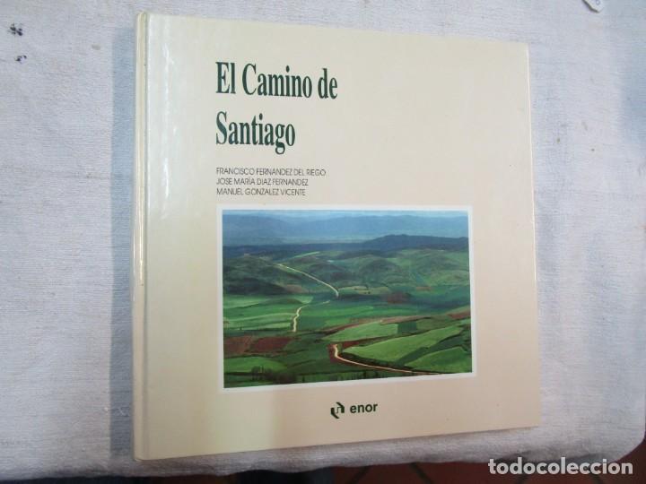 GALICIA - EL CAMINO DE SANTIAGO -VV.AA - EDITA ASCENSORES ENOR 1992 158PAG 25X25CM BILINGÜE + INFO (Libros de Segunda Mano - Geografía y Viajes)