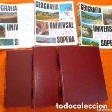 Libros de segunda mano: 1982 GEOGRAFIA UNIVERSAL, SOPENA, COLECCION COMPLETA DE TRES TOMOS. Lote 287372688