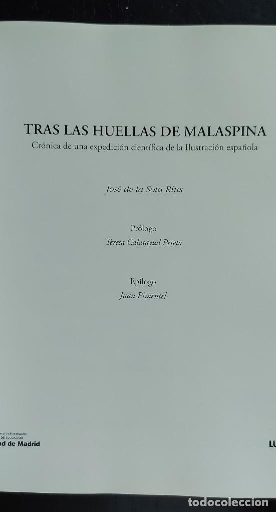 Libros de segunda mano: TRAS LAS HUELLAS DE MALASPINA - CRONICA DE UNA EXPEDICIÓN CIENTÍFICA ESPÑAOLA - 2002 - JOSÉ DE LA SO - Foto 3 - 288143318