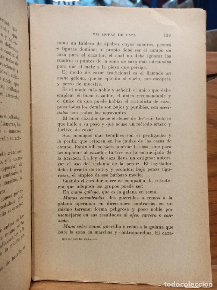Libros de segunda mano: MIS HORAS DE CAZA - PRACTICAS DE CAZA - BERNAT DURAN , J. - con fotografías - Foto 4 - 288561453