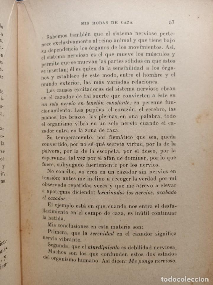 Libros de segunda mano: MIS HORAS DE CAZA - PRACTICAS DE CAZA - BERNAT DURAN , J. - con fotografías - Foto 7 - 288561453