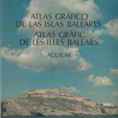 Libros de segunda mano: ATLAS GRAFICO DE LAS ISLAS BALEARES. AGUILAR. A-ATLA-196. Lote 289878913