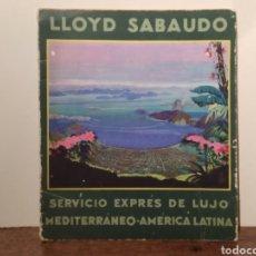 Livros em segunda mão: LIBRO SERVICIO LÍNEA EXPRES DE LUJO MEDITERRÁNEO - AMERICA LATINA LLOYD SABAUDO. Lote 292619478