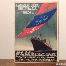 Livros em segunda mão: ANTIGUO LIBRETO INFORMATIVO DE LAS LÍNEAS DE NAVIGAZIONE LIBERA TRIESTINA S.A.. Lote 292707163