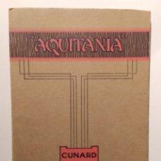 Livros em segunda mão: ANTIGUO LIBRETO CON GRAN DESPLEGABLE DEL BARCO AQUITANIA. Lote 292815503