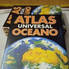 Libros de segunda mano: ATLAS UNIVERSAL OCÉANO. EDICIONES OCÉANO. AÑO 1992. 4 VOLUMENES. Lote 293605108