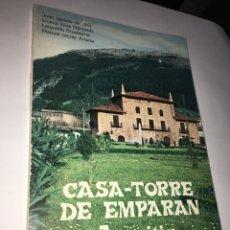 Libros de segunda mano: CASA-TORRE DE EMPARAN AZPEITIA. CAJA AHORROS SAN SEBASTIÁN, 1977. CON FOTOGRAFÍAS. Lote 294031633