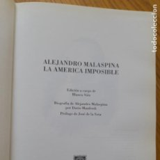 Libros de segunda mano: AMÉRICA. ALEJANDRO MALASPINA, LA AMÉRICA IMPOSIBLE, COMPAÑÍA LITERARIA, MADRID, 1994. Lote 294840593