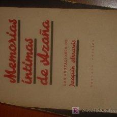 Libros de segunda mano: 1939. GUERRA CIVIL. MEMORIAS INTIMAS DE AZAÑA. ILUSTRADO. Lote 26832187