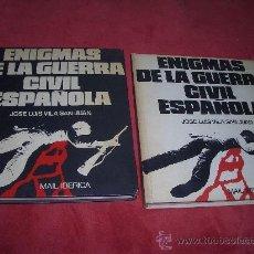 Libros de segunda mano: ENIGMAS DE LA GUERRA CIVIL ESPAÑOLA 2º TOMOS. Lote 16286104
