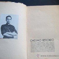 Libros de segunda mano: ONÉSIMO REDONDO. CAUDILLO DE CASTILLA. CON FOTOGRAFÍA MONTADA. 1937. DIBUJOS DE STEFANO FRANK. 1ªED.. Lote 23666064