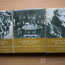 Libros de segunda mano: LA ESPAÑA POLÍTICA DEL SIGLO XX EN FOTOGRAFÍAS Y DOCUMENTOS. DÍAZ-PLAJA (FERNANDO). Lote 18699750
